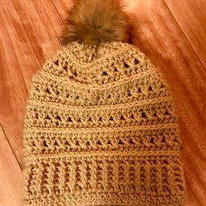 Handmade Hat with Pom-Pom